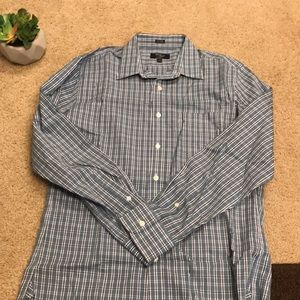 J. Crew blue and green button down
